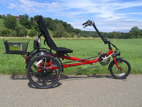 Lanztec Electric Recumbent Tricycle with 250 Watt Motor
